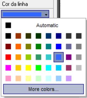 Opções de cores